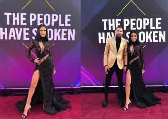 Adelina Pestrițu pe covorul roșu la People's Choice Awards