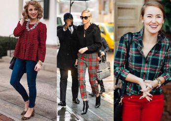 7 outfituri în carouri festive combinate cu stil