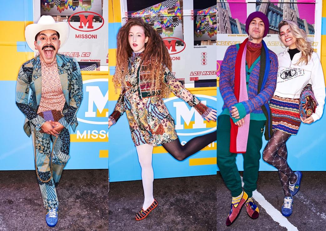 Campanie colorată marca Missoni