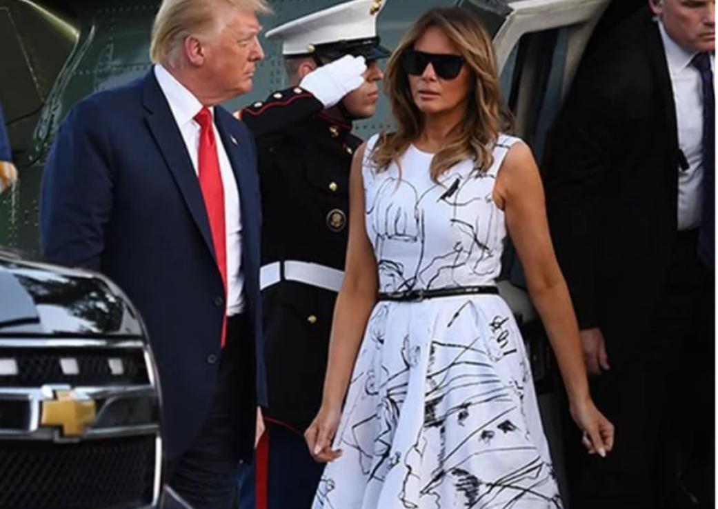Melania Trump într-o rochie Alexander McQueen
