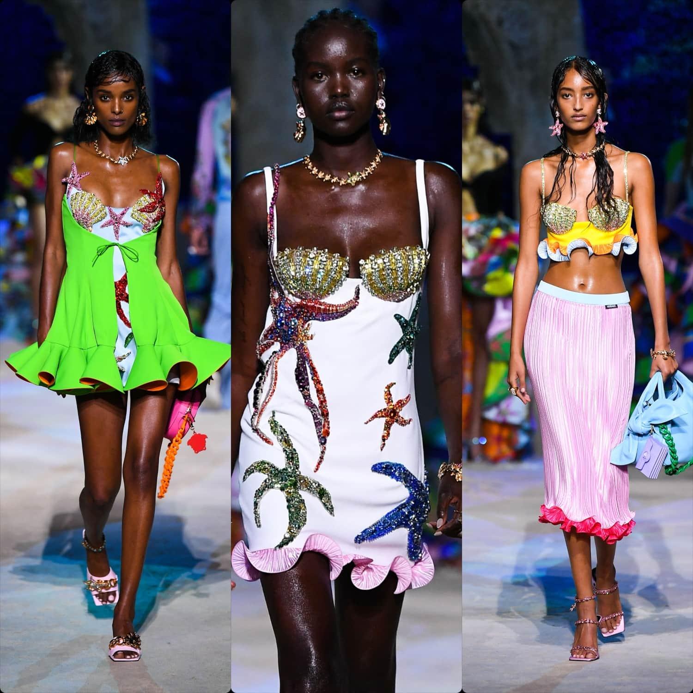Culoare şi strălucire subacvatică la show-ul Versace