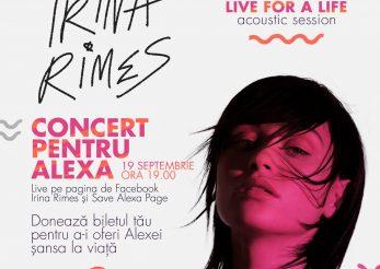 Irina Rimes, concert pentru o viață