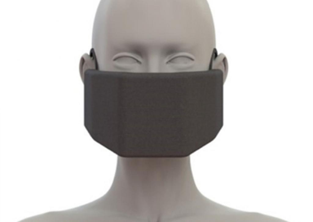 Mască de protecție care inactivează virusurile