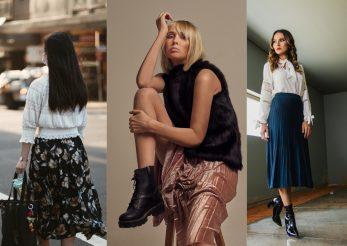 Fusta plisată, fashion și pe vreme rece
