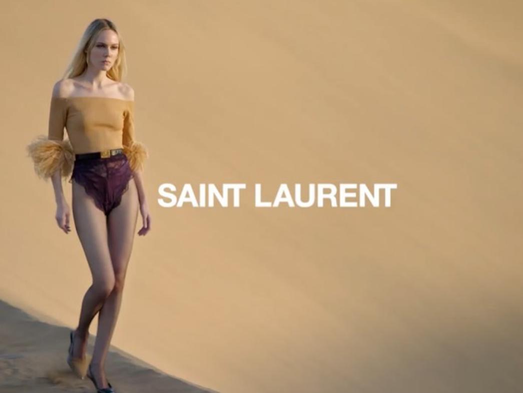 Modă în deșert, marca Yves Saint Laurent