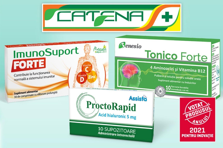 Trei produse din portofoliul exclusiv Catena,  câștigătoare ale titlului Votat Produsul Anului® 2021